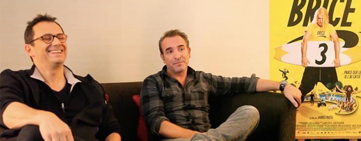 Interview: Notre rencontre avec Jean Dujardin et James Huth pour Brice 3 (Vidéo)