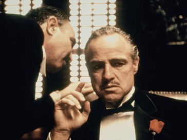 Marlon Brando et Salvatore Corsitto dans The Godfather (1972)