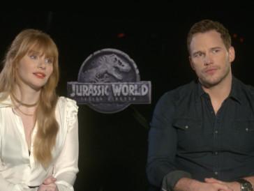 Chris Pratt und Bryce Dallas Howard zu «Jurassic World: Das gefallene Königreich»