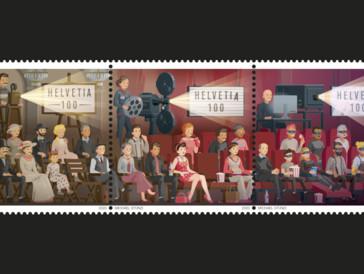 Die Schweizerische Post feiert «125 Jahre Kino» mit drei Briefmarken in limitierter Auflage