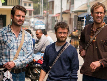 Der Vergleich: Daniel Radcliffe, Alex Russell, und Joel Jackson in «Jungle» (2017)