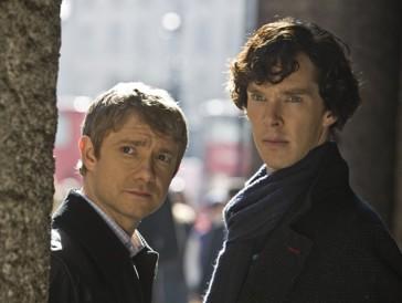 Ein Dreamteam der etwas anderen Art: Martin Freeman und Benedict Cumberbatch als Dr. Watson und Sherlock Holmes.