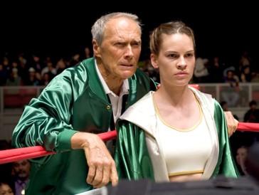 Clint Eastwood und Hilary Swank in «Million Dollar Baby»