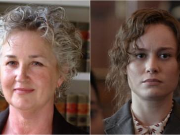 Eva Ansley (links) wird im Film von Brie Larson (rechts) dargestellt.