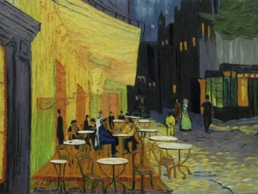 Auch die berühmte Caféterrasse des in den Wahnsinn getriebenen Künstlers bekommt im Film ihren Auftritt.
