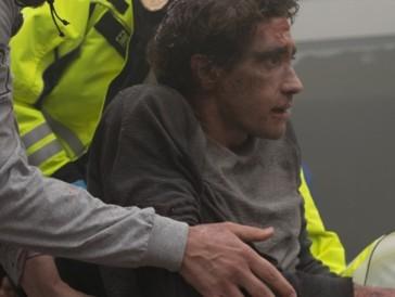 Jake Gyllenhaal als Jeff Bauman kurz nach dem traurigen Schicksalsschlag.