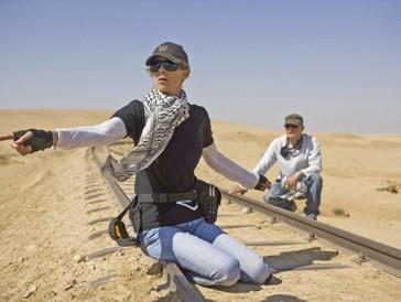 Kathryn Bigelow et Barry Ackroyd sur le tournage de «Démineurs» (2008)