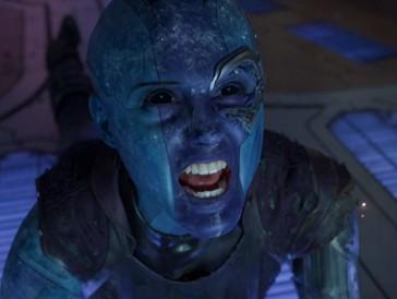 Die Filmfigur: Nebula, die unter anderem in «Guardians of the Galaxy» mitmischt.