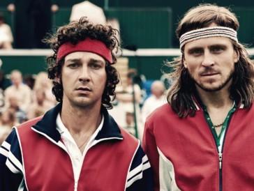 Der Schwede Sverrir Gudnason spielt die hitzige Tennislegende Björn Borg (rechts)