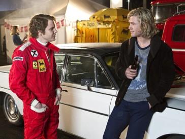 Daniel Brühl und Chris Hemsworth in «Rush»