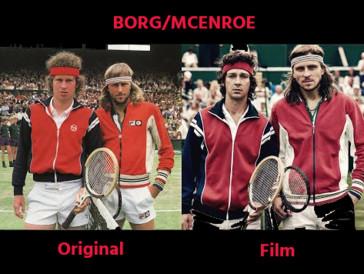 Erstaunliche Ähnlichkeit zwischen Björn Borg (rechts) und dem Hauptdarsteller Sverrir Gudnason