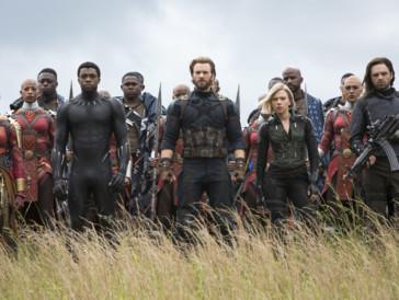 Chris Evans, Scarlett Johansson, Chadwick Boseman, Sebastian Stan, Danai Gurira, Marie Mouroum, & Winston Duke