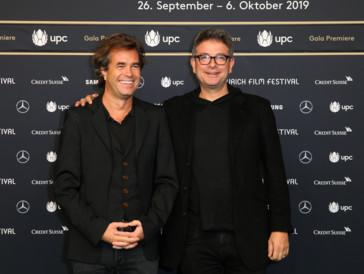 Regisseur Rupert Goold (links) und Produzent David Livingstone (rechts) am diesjährigen Zurich Film Festival.
