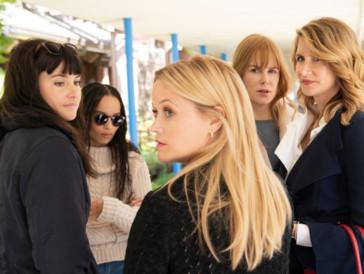 """Die """"Monterey Five"""": Jane, Bonnie, Madeline, Celeste und Renata verstricken sich immer mehr in ihrem Lügennetz."""