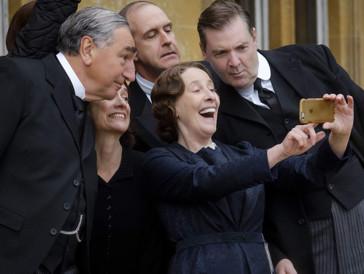 Gute Stimmung am Set: Der Dreh des «Downton Abbey»-Kinofilms habe sich für viele wie ein Familientreffen angefühlt.