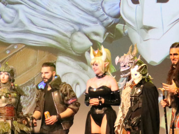 Die Juroren und Jurorinnen des Cosplaywettbewerbs reisten unter anderem aus Deutschland und Südafrika an.