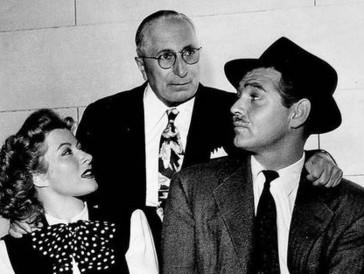 Der Initiator der Oscars: Louis B. Mayer (Mitte) mit Clark Gable und Greer Garson in «Adventure»im Jahr 1945.