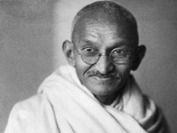 ...der indische Freiheitskämpfer Mahatma Gandhi.