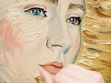 Soairse Ronan, gemalt im Stil des holländischen Künstlers