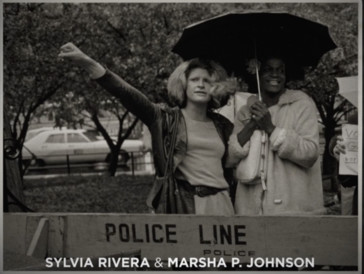 Une photo de Sylvia Rivera et Marsha P Johnson dans «Disclosure».