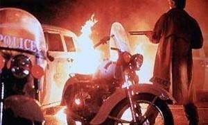 Strassen in Flammen