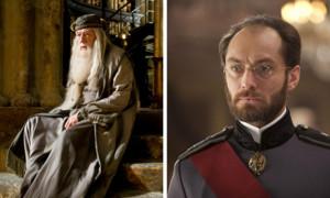 """Seit die Filmwelt wusste, dass im zweiten Teil des Harry-Potter-Ablegers """"Phantastische Tierwesen und wo sie zu finden sind"""" der Zauberer Dumbledore ein Comeback geben würde, diskutierte das Netz über eine mögliche Rollenbesetzung. Nun haben sich die Macher entschieden und die Katze aus dem Sack gelassen: Der Engländer Jude Law soll sich als junger Magier versuchen. Für das Sequel mit Mr. Law als langbärtiger Dumbledore müssen wir uns aber noch bis 2018 gedulden."""